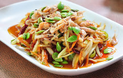 De salade van het kruid (Thais voedsel) Stock Foto's