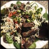De Salade van het roklapje vlees Stock Foto