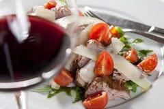 De salade van het rundvlees Royalty-vrije Stock Foto