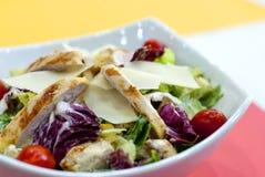 De salade van de kip Caesar Chiciken, royalty-vrije stock afbeeldingen