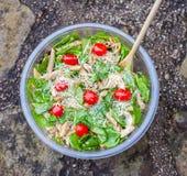 De salade van kippendeegwaren Stock Foto's