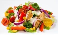 De salade van kippengyroscopen Royalty-vrije Stock Foto's