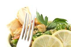 De Salade van kippentabbouleh Royalty-vrije Stock Foto's
