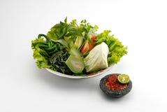 De salade van Lalapan Royalty-vrije Stock Afbeeldingen