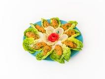 De Salade van Mezze van linzepasteitjes Stock Fotografie