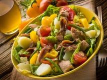 De salade van Nicoise stock foto's