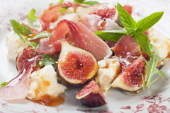 De salade van Prosciuttodi Parma Royalty-vrije Stock Fotografie