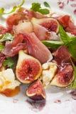 De salade van Prosciuttodi Parma Stock Foto
