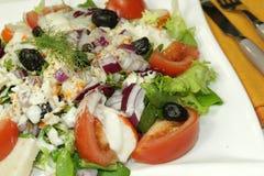 De salade van Surimi stock afbeeldingen