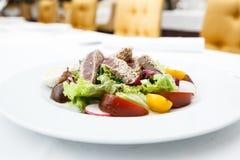 De salade van de tonijn met tomaten royalty-vrije stock foto's
