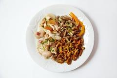 De salade van verschillende soorten paddestoelen, sluit omhoog Royalty-vrije Stock Fotografie