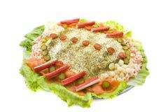 De salade van vissen Stock Foto's