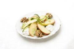 De salade van Waldorf met kwark Stock Foto's