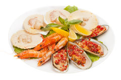 De salade van zeevruchten Royalty-vrije Stock Foto's