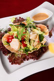 De salade van zeevruchten royalty-vrije stock fotografie