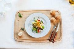 De salade is voedsel royalty-vrije stock afbeelding