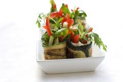 De saladebroodjes van de courgette met kaas Royalty-vrije Stock Fotografie
