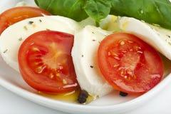 De saladeclose-up van Caprese stock afbeeldingen