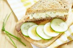 De saladesandwich van het ei Royalty-vrije Stock Foto