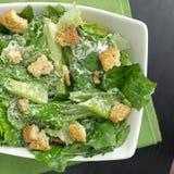De saladetop down van Caesar mening Royalty-vrije Stock Afbeelding