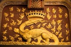 De salamander, symbool van Francois I Royalty-vrije Stock Fotografie