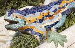 De salamander van Antoni Gaudy, Barcelona, Spanje royalty-vrije stock foto's
