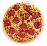 De Salami van de pizza Royalty-vrije Stock Fotografie