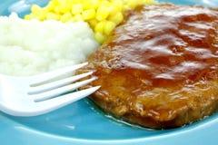 De Salisbúria do bife da refeição fim acima fotografia de stock