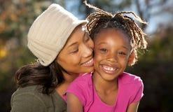 De Samenhorigheid van de Liefde van de moeder Stock Foto