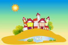De stad van Fairytale Stock Foto