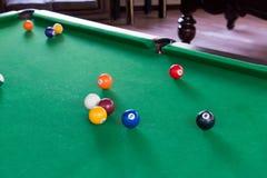 De samenstelling van biljartballen Royalty-vrije Stock Afbeeldingen