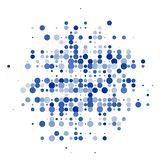 De samenstelling van blauwe cirkels op de witte achtergrond royalty-vrije stock foto