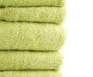 De samenstelling van de badstofbadhanddoek Stock Foto's