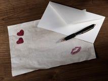 De samenstelling van de Dag van de valentijnskaart Royalty-vrije Stock Foto's