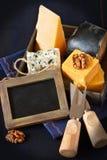 De samenstelling van de kaas. Royalty-vrije Stock Afbeeldingen