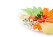 De samenstelling van de kaas Stock Foto's