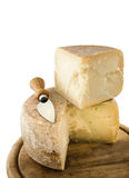 De samenstelling van de kaas en van het mes Royalty-vrije Stock Afbeelding