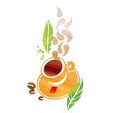 De samenstelling van de koffie vector illustratie