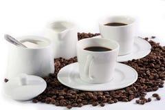 De samenstelling van de koffie Stock Afbeeldingen