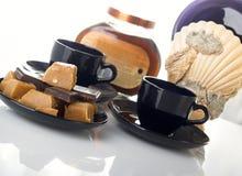 De samenstelling van de koffie Stock Foto's