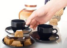 De samenstelling van de koffie Stock Foto