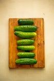 De samenstelling van de komkommer Stock Foto's