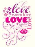 De samenstelling van de liefde royalty-vrije illustratie