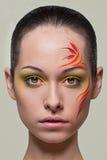 De samenstelling van de manier met gezichtsart. Royalty-vrije Stock Foto's