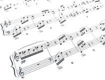 De samenstelling van de muziek Stock Foto