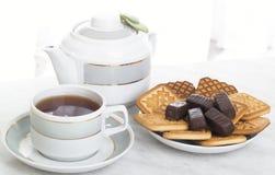 De samenstelling van de thee Stock Fotografie