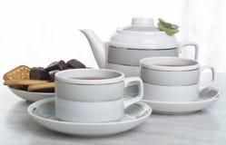 De samenstelling van de thee Stock Afbeeldingen