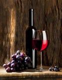 De samenstelling van de wijn Stock Foto