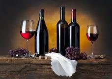 De samenstelling van de wijn Royalty-vrije Stock Foto's