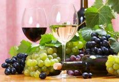 De samenstelling van de wijn royalty-vrije stock afbeelding
